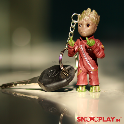 Groot Middle Fingure Keychain