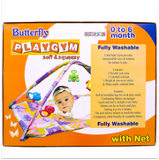 Play Gym with Net and Overhead Rattle Toys