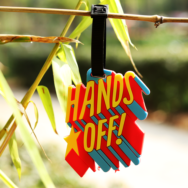 Hands Off Luggage Tag