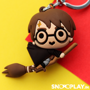 Buy Harry Potter Flying Keychain India best Prices broom flying game quiditch movie scene rubber keyring
