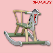 Buy wooden rocking horse toy for toddlers kids age 1+ - Snooplay.in