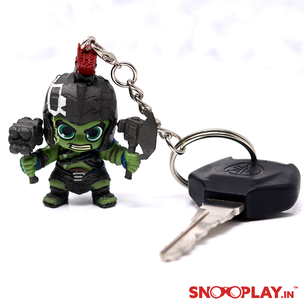 Keychain of  HULK, a character from marvel series, with green skinned, hulking body and possessing a vast degree of physical strength