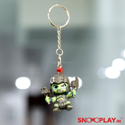 The full view of the keychain of character Hulk from Thor Rangnarok movie.