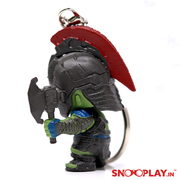 Hulk- Thor Rangnarok Bobblehead keychain with swagger of height 1.57 inches.