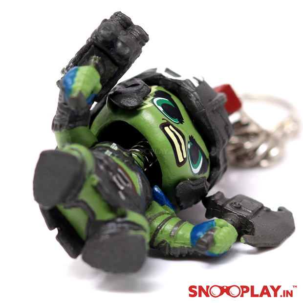 The keyring of Hulk- Thor Rangnarok Bobblehead of width 3.15 inches.