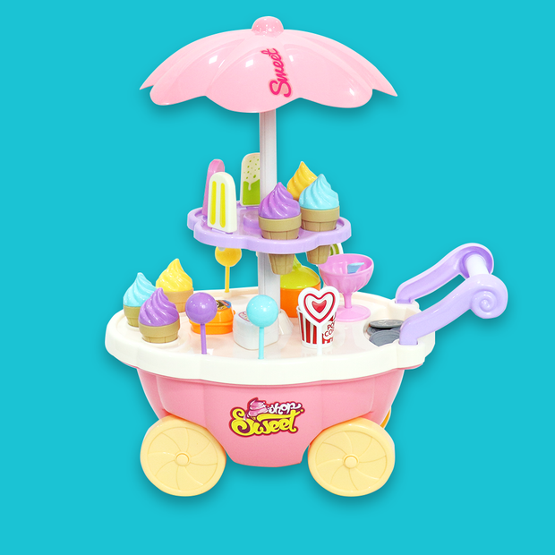 Sweet Shop Cart Playset Pretend Play Toy