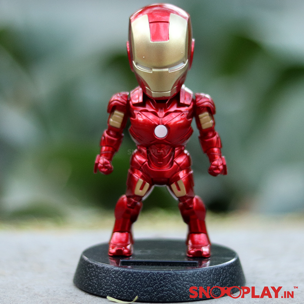 Ironman Classic Red & Gold Solar Powered Bobblehead