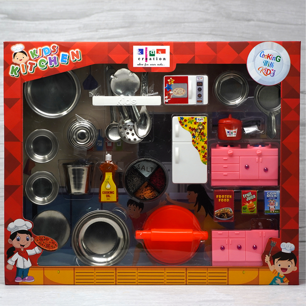 Kids Kitchen Collection Playset (Steel Kitchen Set)