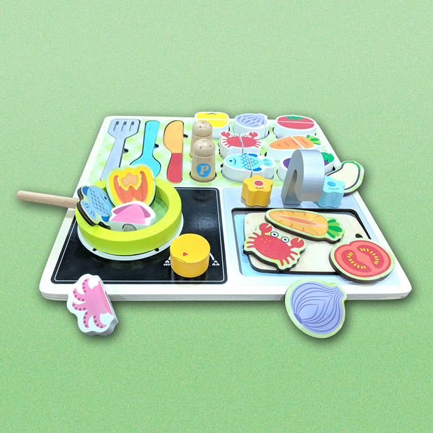 Wooden Puzzle Kitchen Cooking