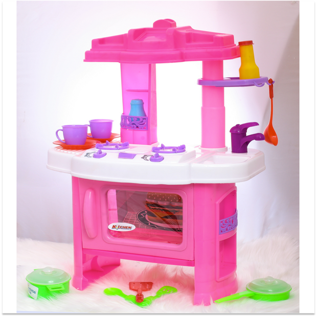 Kitchen Set With Music and Lights For Kids (Battery Operated) Big