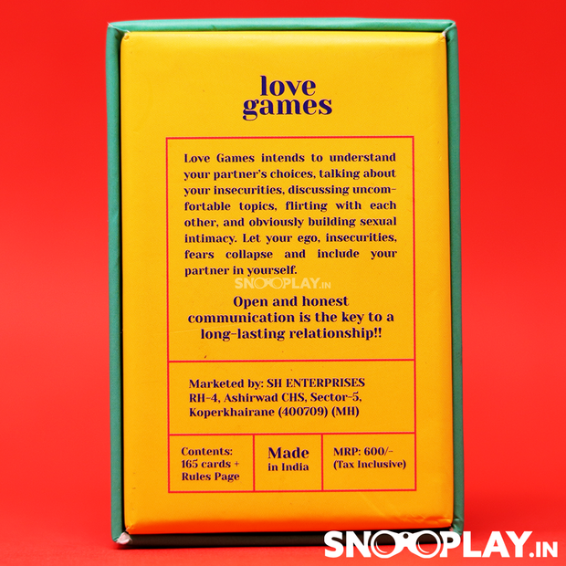 Buy Love Games Cards - The Ultimate Couples Card Game | Talk, Flirt & Dare Online India Best Prices