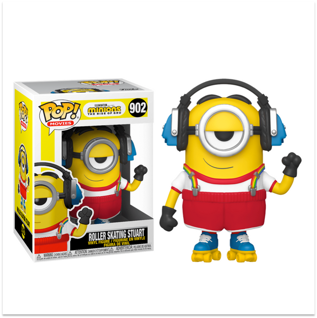 "Minions The Rise of Gru ""Roller Skating Stuart"" Funko Pop"