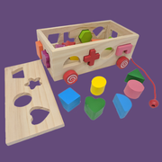 Wooden Pull-Along Shapes Car