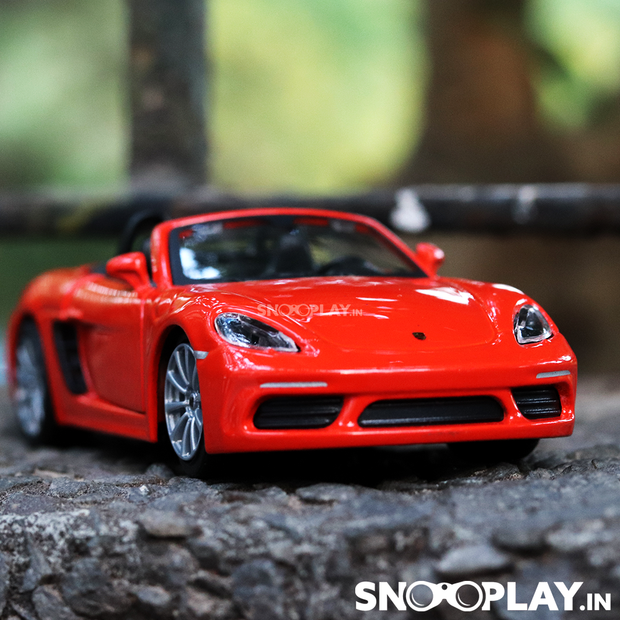 Porsche 718 Boxter Diecast Car Scale Model (1:43 Scale) Pull Back Car Model