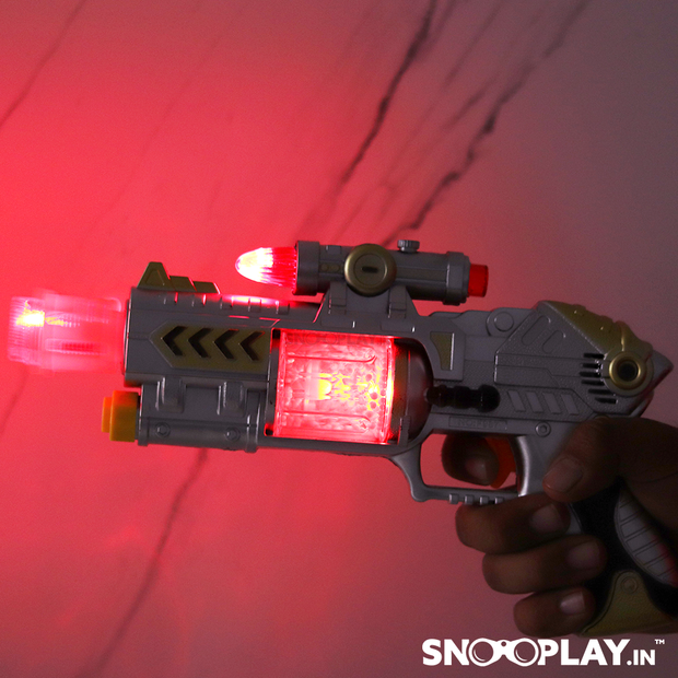 Laser Sound Gun action musical toy for kids - Snooplay.in