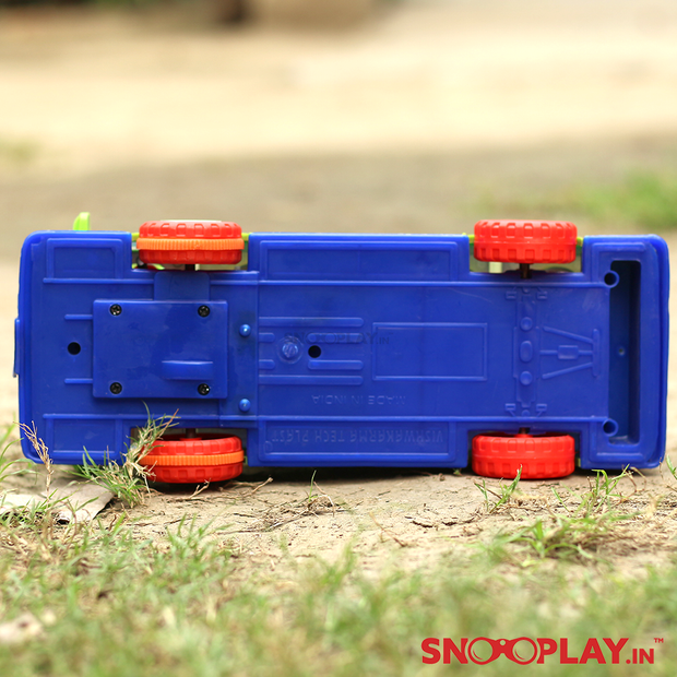 Buy friction powered school bus toy with moving passenger- Snooplay.in for kids'