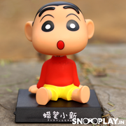 Shin Chan Action Figure Bobbleheads Car Decoration with Phone Stand