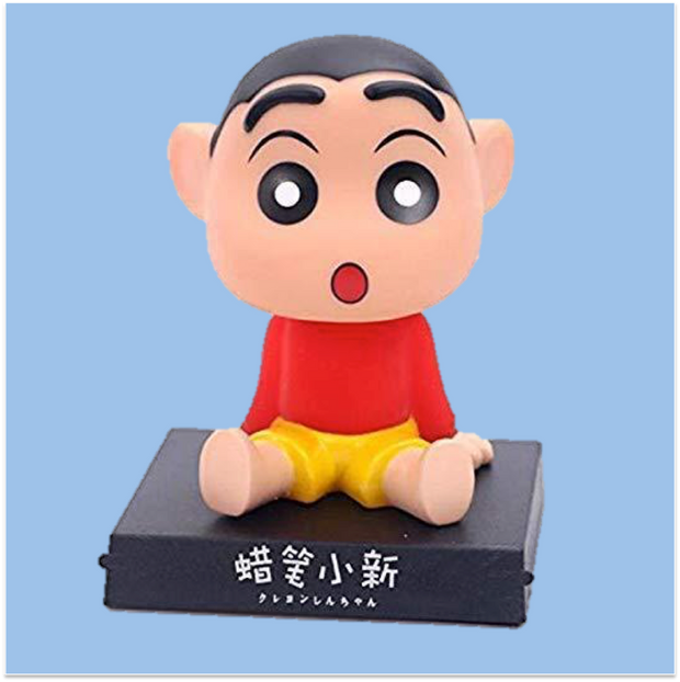 Shin Chan Action Figure Bobble Head - Car Decoration & Phone Stand