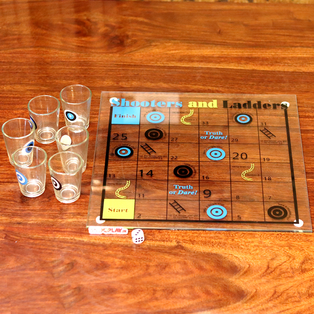Drinking Snakes & Ladders (With Shot Glasses) Party Game
