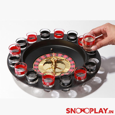 Shot Glass Roulette (Casino Drinking Game) - Black