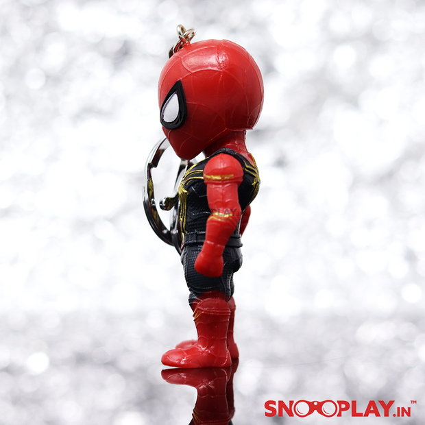 Spiderman Moving Action Figure with Stand Keychain