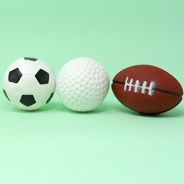 Squeezy Squeaky Toys - Balls with Football