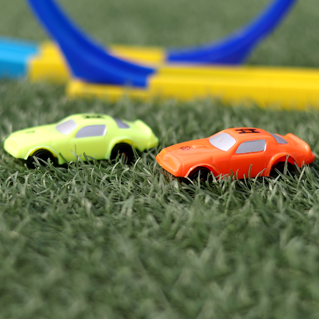 A perfect gift for kids who love toy cars, racing toy cars, racing toys, car sets.