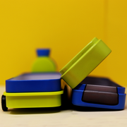 Train shaped pencil box with in-built sharpener