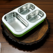 3 Compartment Insulated Stainless Steel Lunch Box