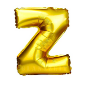 A - Z Letter Balloon-Gold (16 inches)