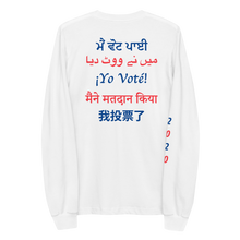 Load image into Gallery viewer, MULTI-LINGUAL 'I VOTED' LONG SLEEVE
