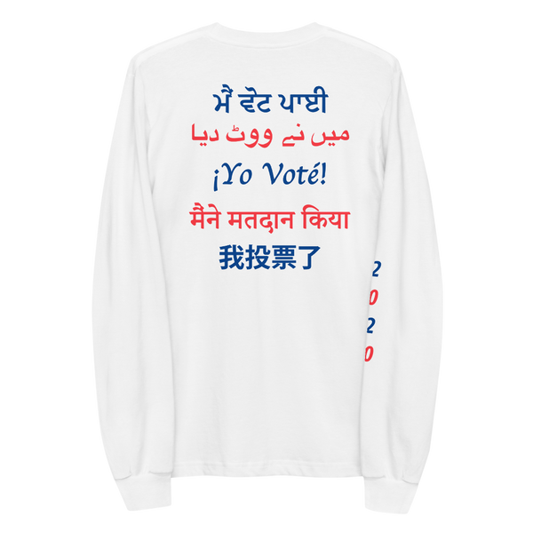 MULTI-LINGUAL 'I VOTED' LONG SLEEVE