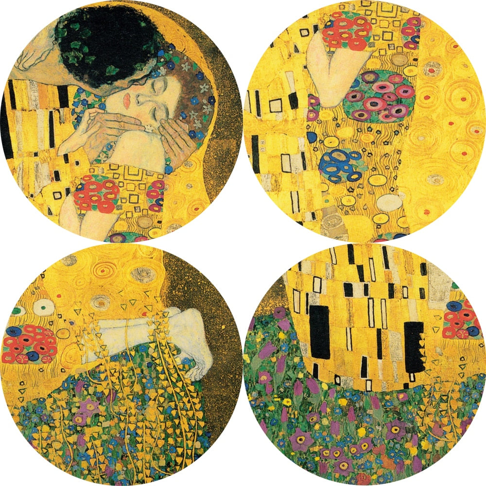 The Kiss By Gustav Klimt Print On Canvas Warblers