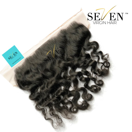 "Indian Deep Wave/Curly FRONTAL, (13"" x 4"", No Part)"