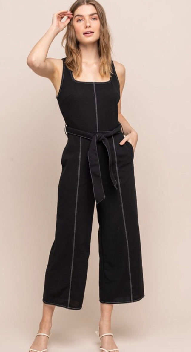 Square Neck Jumpsuit