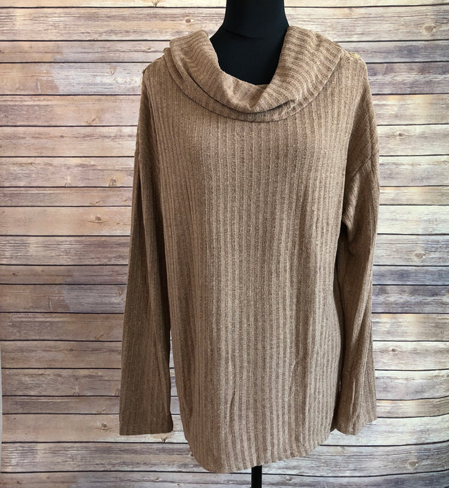 Cowl neck tunic ~ Camel