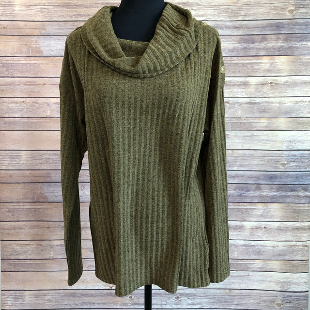 Cowl neck tunic ~ Olive