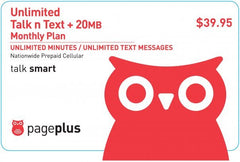 Page Plus Unlimited Top Up - Bill Payment