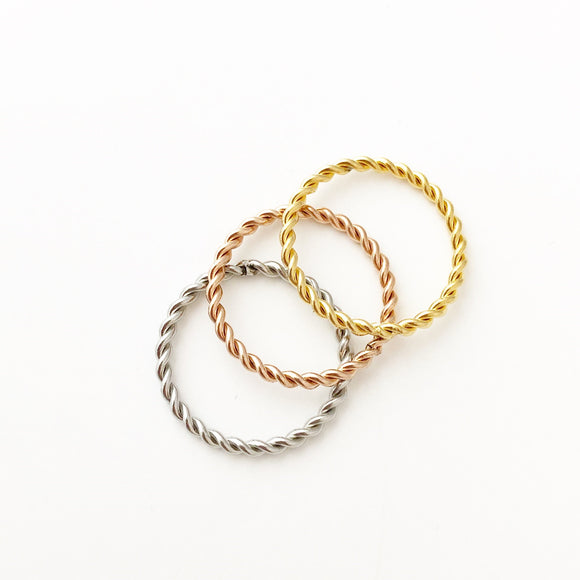 Twisted Rope Stacking Rings