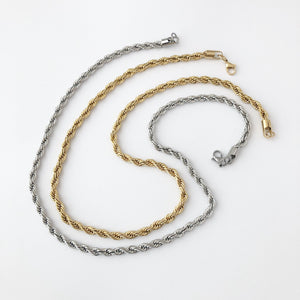 Chain Only - Twist Rope Chain