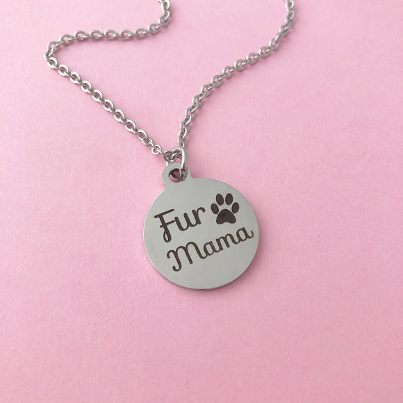 Fur Mama Charm Necklace