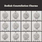 Zodiac Constellation & Initial Charm Necklace