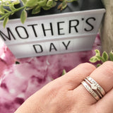 Stacking Family Ring, Sterling Silver Hand Stamped Jewelry, Engraved Ring