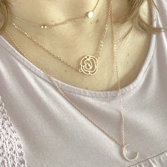 Flora Necklace in Gold, Silver, or Rose Gold FREE SHIPPING
