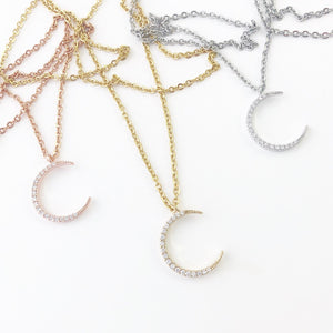 Luna Necklace in Gold, Silver, or Rose Gold FREE SHIPPING