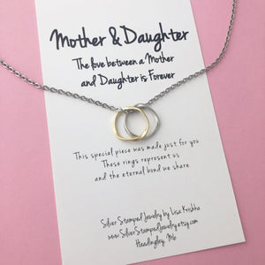 FREE SHIPPING The love between a Mother and Daughter is forever, Mother's Day, Mom