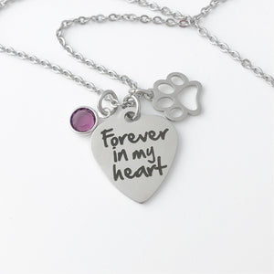 Memorial Necklace - Pet Loss - Ash Jewelry - Pet Ash - Dog Cat Jewelry- Cremation urn