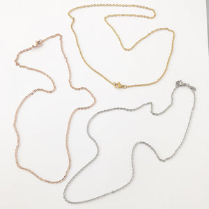 Cable Chain Rolo Chain Silver, Gold Or Rose Gold