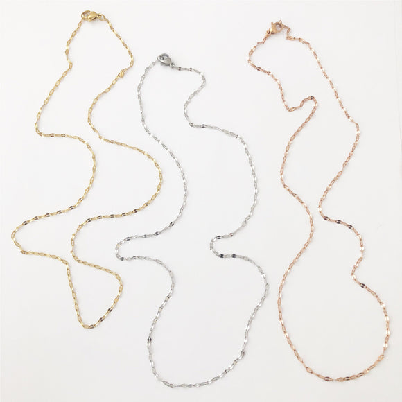 Cuban Chain Silver, Gold Or Rose Gold