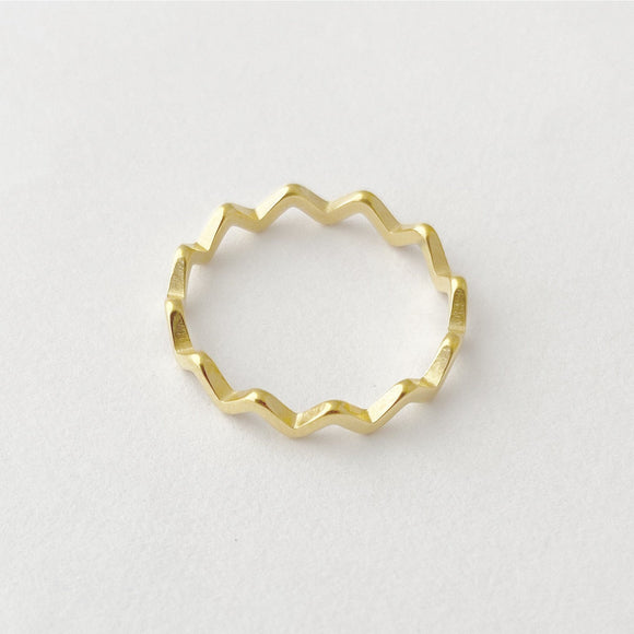 Squiggly Ring, Gold Statement Ring